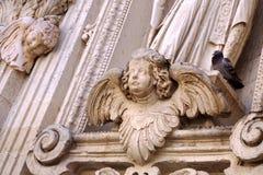 detaljer av den Lecce barocken royaltyfria foton