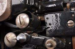 Detaljer av den retro projektorn arkivfoton