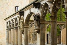 Detaljer av den Santa Maria la Real kyrkan på Olite Royaltyfri Foto
