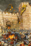 Detaljer av den sista anfallen av Constantinople Royaltyfri Fotografi