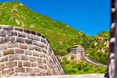 Detaljer av den stora väggen på Badaling royaltyfri bild