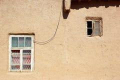 Detaljer av den traditionella arkitekturen av centrala Asien uzbekistan Arkivfoton