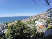 Detaljer av den Vidigal kullen i Rio de Janeiro arkivbild