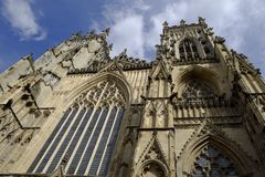 Detaljer av den York domkyrkan som kallas också York domkyrka arkivbilder
