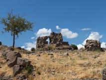Detaljer av det gammalt fördärvar på Pergamum Arkivbild