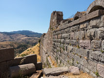 Detaljer av det gammalt fördärvar på Pergamum Royaltyfri Bild