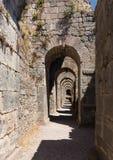 Detaljer av det gammalt fördärvar på Pergamum Fotografering för Bildbyråer