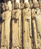 Detaljer av domkyrkan av Chartres Frankrike Arkivbilder