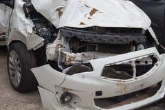 Detaljer av en bil en olycka arkivfoton