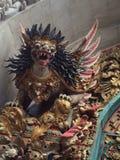Detaljer av en dörr till en tempel, Ubud, centrala Bali, Indonesien Royaltyfria Foton