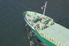 Detaljer av en fraktbåt Arkivfoto