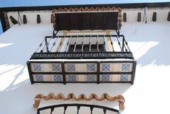 Detaljer av fasaden av ett hus i El Bosque-Grazalema-Benaojan Andalusia (Spanien) Arkivbilder