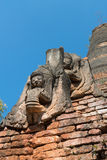 Detaljer av forntida Burmese buddistiska pagoder Arkivbilder