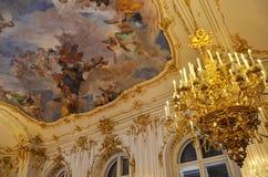 Detaljer av garneringen av ett rum i den imperialistiska slotten i Wien Royaltyfri Foto