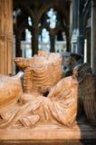 Detaljer av gravvalvet av den inre Gloucester domkyrkan för konung Edward II Arkivfoton