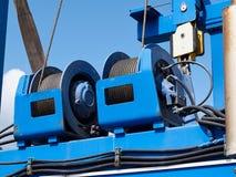Detaljer av industriella kabelvalsar Royaltyfri Fotografi
