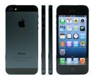 Detaljer av iPhone 5 Arkivfoton