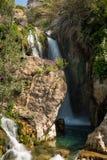 Detaljer av källorna av floden Algar i Alicante, Spanien Royaltyfri Fotografi