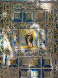 Detaljer av keramiska tegelplattor för härlig Valencia stil royaltyfri bild