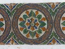 Detaljer av keramiska tegelplattor f?r h?rlig Valencia stil fotografering för bildbyråer