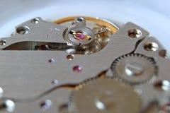 Detaljer av klockamekanismen Royaltyfri Fotografi