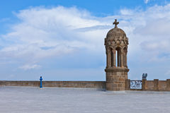 Detaljer av kyrkan på det Tibidabo berget, Barcelona Royaltyfria Foton