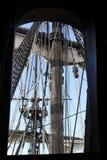 Detaljer av mastsegelbåten Royaltyfri Foto