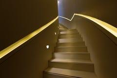 Detaljer av metallräcket och trappa Royaltyfria Foton