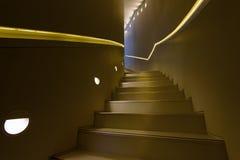 Detaljer av metallräcket och trappa Arkivfoton