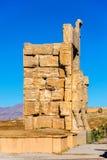 Detaljer av nationerna för port allra i Persepolis Royaltyfria Bilder