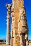 Detaljer av nationerna för port allra på Persepolis Arkivbild