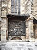 Detaljer av Sten Stephens Cathedral arkivfoton