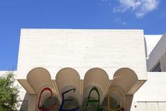 : Detaljer av tillträdeet till den byggande Joan Miro Foundation, Barcelona, Spanien Royaltyfria Foton