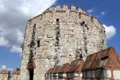 Detaljer av tornet av den Yedikule fästningen Royaltyfri Bild