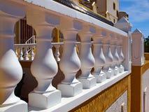 Detaljer av traditionell spanjor utformar husfastigheten Spanien royaltyfri fotografi