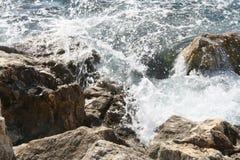 Detaljer av vatten i Villefrance sur le mer, Frankrike Royaltyfri Foto
