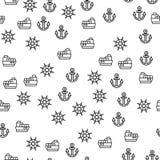 Detaljer av vektorn för modell för leveransskepp den sömlösa royaltyfri illustrationer