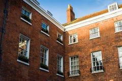 Detaljer för bostads- byggnad Fotografering för Bildbyråer