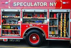 Detaljer för brandlastbil Arkivfoto