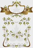 Detaljer för garneringdesignprodukter av druvor Arkivfoto