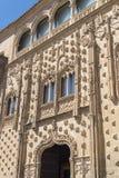 Detaljer för Jabalquinto slottfasad, Baeza, Spanien Royaltyfria Bilder