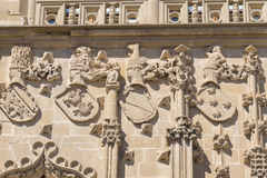 Detaljer för Jabalquinto slottfasad, Baeza, Spanien Royaltyfria Foton