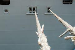 Detaljer för kryssningskepp Arkivfoto