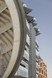 Detaljer för Masdar stadsfasad Royaltyfri Fotografi