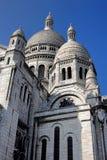 Detaljer för Sacre Coeur basilikaarkitektur i Paris Arkivbilder