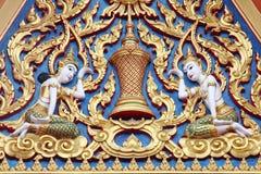 Detaljer från av den buddistiska templet Arkivbild