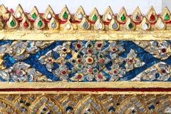 Detaljer från av den buddistiska templet Royaltyfri Foto