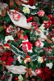 Detaljer från en julgran royaltyfri foto