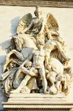 Detaljer i Arc de Triomphe Paris Royaltyfria Bilder
