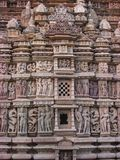 Detaljer Kama Sutra, Khajuraho Royaltyfri Fotografi